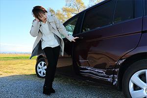 車側面事故板金塗装