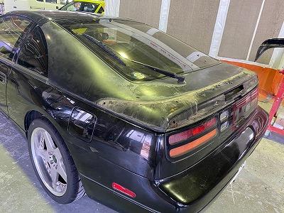 Z32 リヤゲート塗装修理